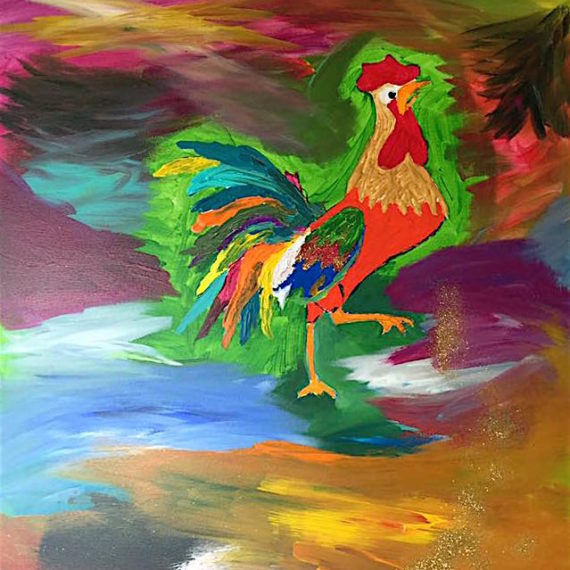 Colorful Rooster – Cartoon